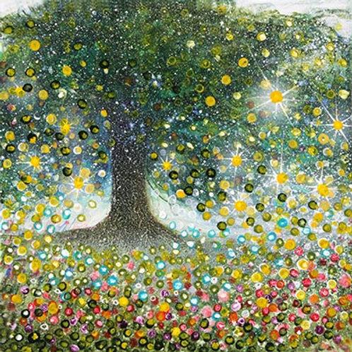 Life of Lemon Tree & Wild Flowers   (Painting)