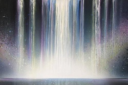 Waterfalls, Galaxy  Original Painting deep eges canvas