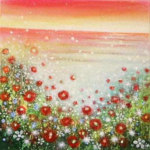 Poppies & Ocean    (Original Painting)