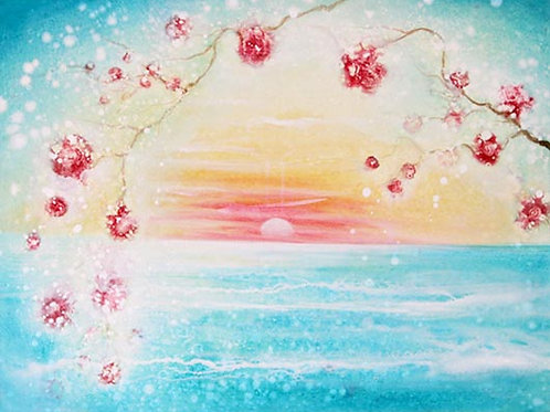 Sun Rise (Dream of Almond Blossom) Orig Painting