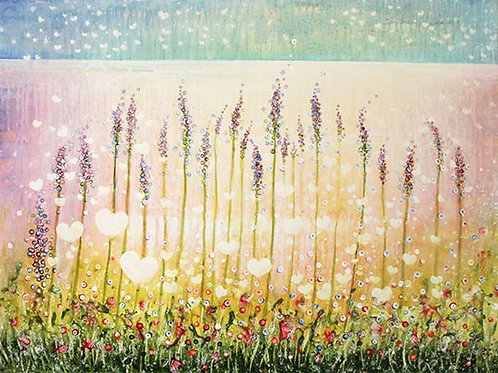 Lavender (Love is everywhere)   (Original Painting)