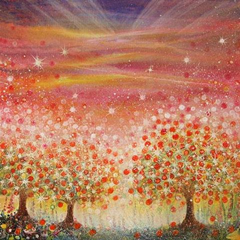 Orange Sunset   (Painting)