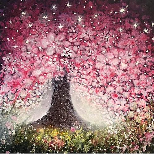 Original painting Night Blossom