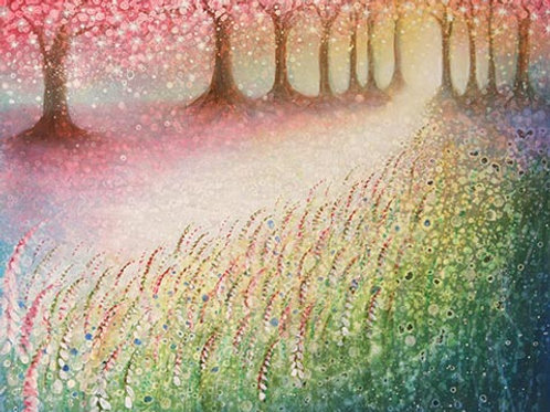 Light in the Blossom Woods  (Painting)