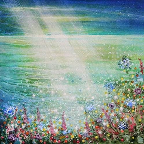 Summer Light & Wild flowers  Original Painting deep eges canvas
