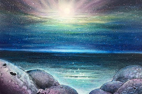 Amethyst cove of light Orginal painting