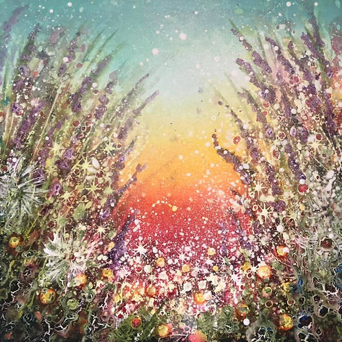 Original painting  Feel the smell of flowers ❤️ Lie down and enjoy ❤️