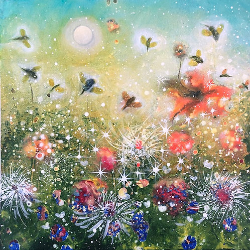 Original Painting Dancing with Flowers