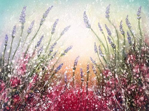 Original Painting  Soft spring light  gentle lavender