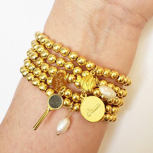 Kit de pulseiras de Oxum