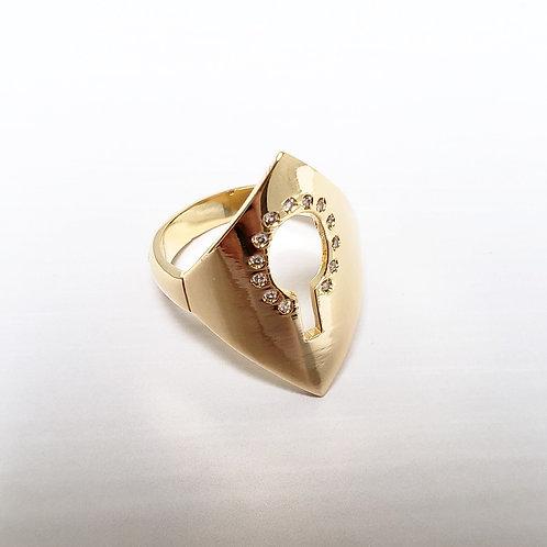 Anéis de Orixás banhados e com zircônias