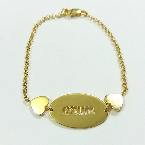 Pulseira de Oxum em prata 925 banhada a ouro