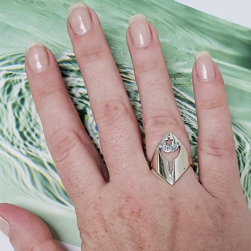 Anéis de Orixás em prata com zircônias