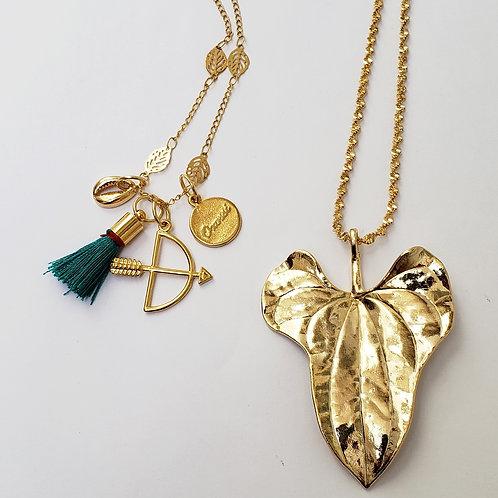 Mix de colares de Oxóssi dourados