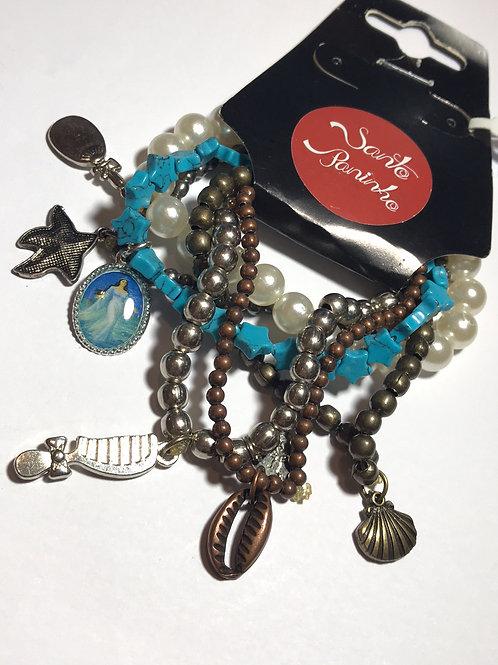 Kit de pulseiras de Iemanjá