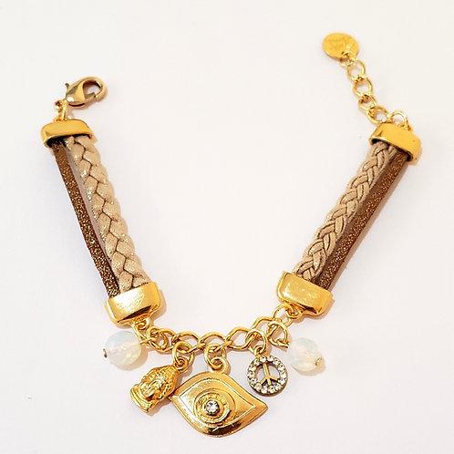 Pulseira Amuletos dourada