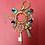 Thumbnail: Chaveiro Balangandã dourado com chave e amuletos