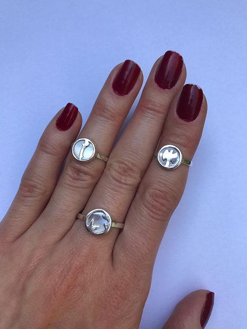 Anéis de Orixás prata
