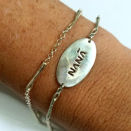 Kit de Nanã com 2 pulseiras de prata 925