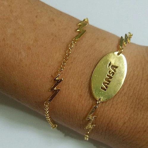 Kit de Iansã com 2 pulseiras em prata 925 banhada a ouro