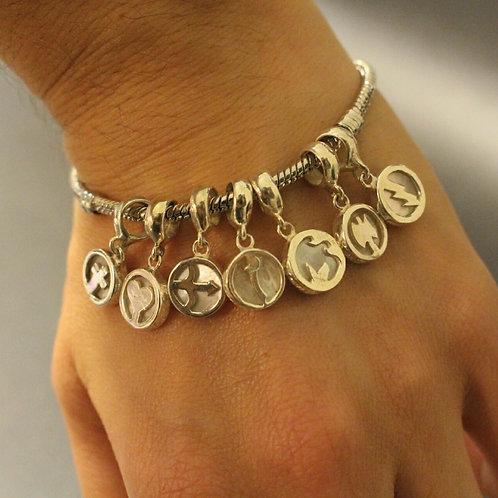 Berloques de orixás prata