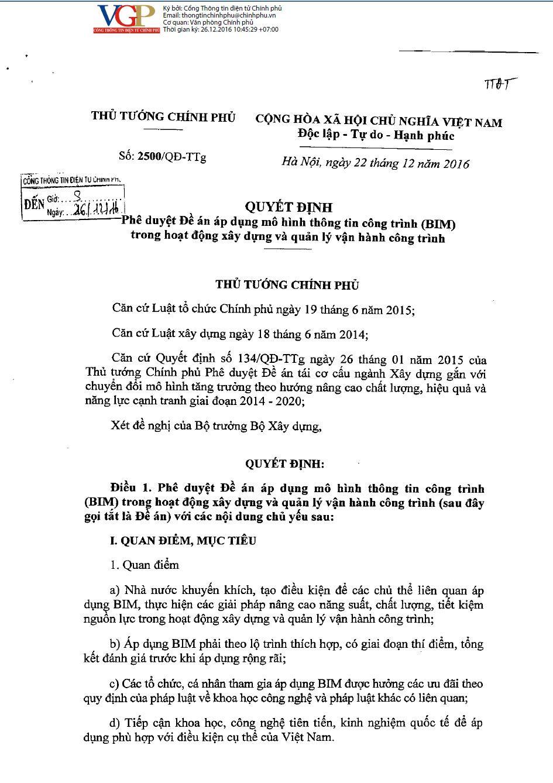 Decision 2500 - Vietnamese