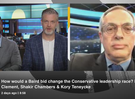 WD's Tony Clement joins CBC's Power & Politics to discuss John Baird considering CPC Leadership Bid