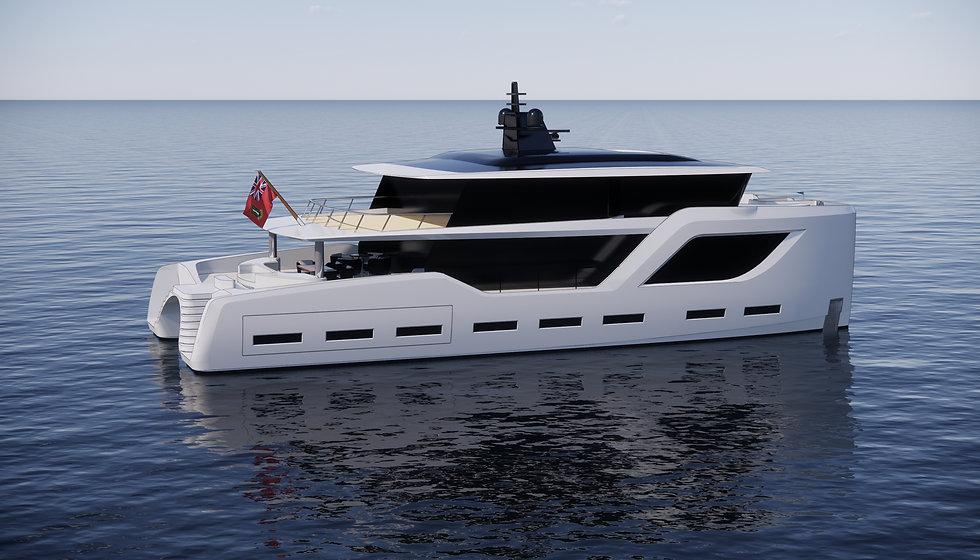 Granocean 95 catamaran exterior prelimin