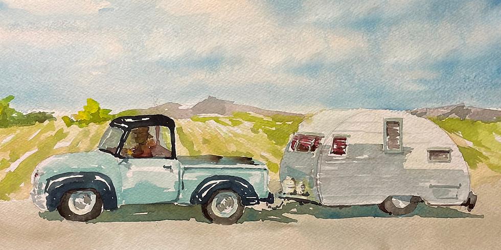 Let's Travel! Watercolor Class