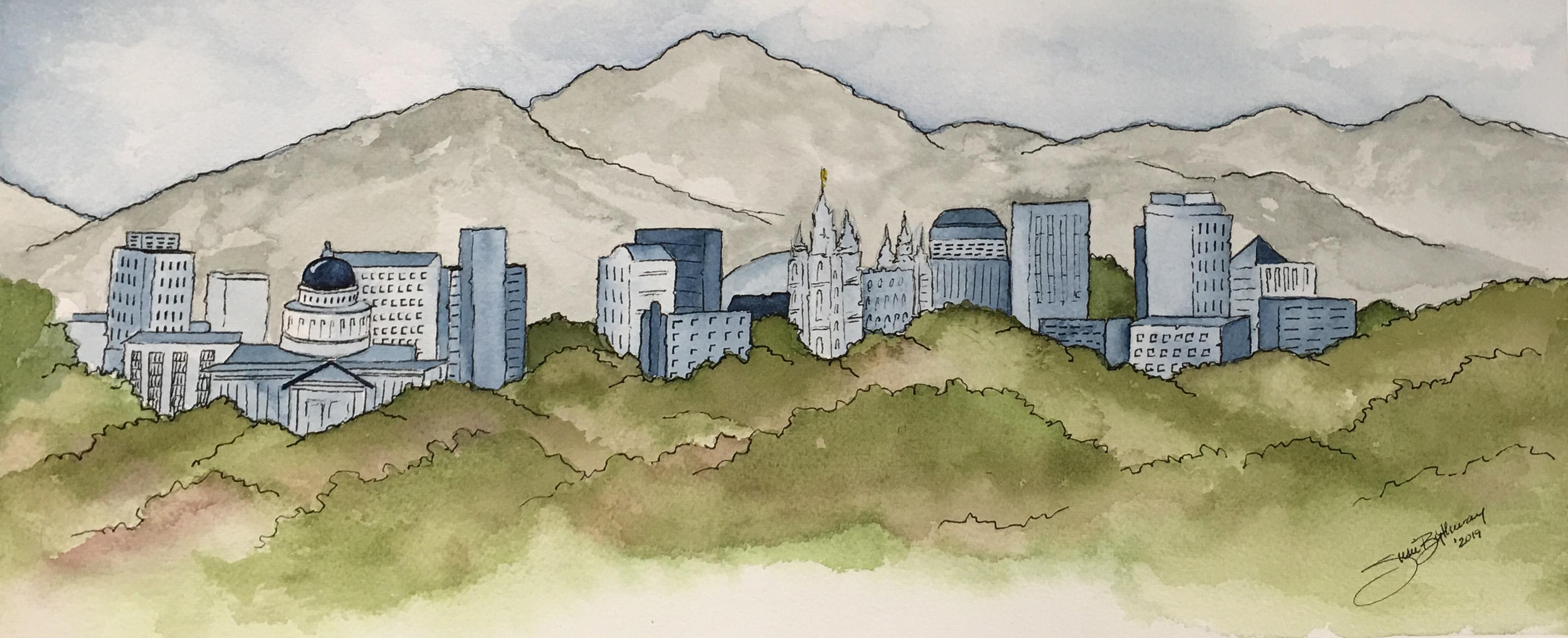Salt Lake City Skyline