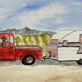 Let's Travel Watercolor