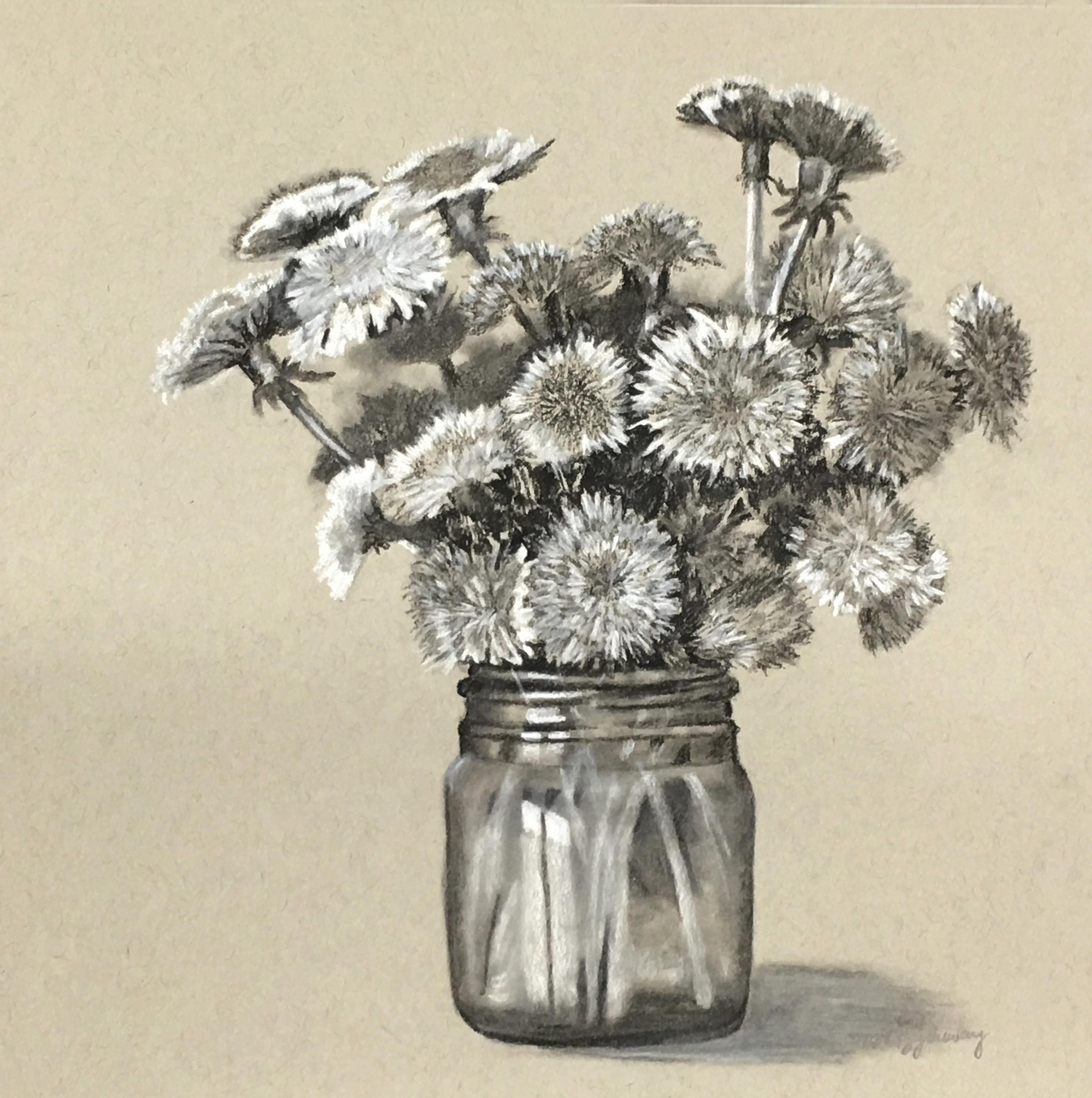 Dandelions in jar