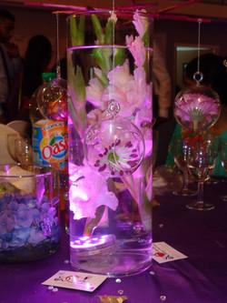 Centre de table fleurs immergées