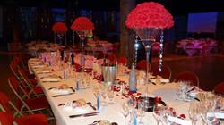 Table d'honneur boules de fleurs