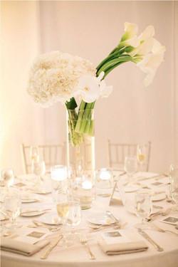 Centre de table blanc