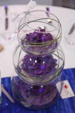 Centre de table vases boules
