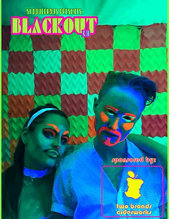 Black Out Drag Show photo booth sponsored by Two Broads Ciderworks