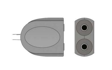 Spacelabs adaptador dual TSL-AD/2