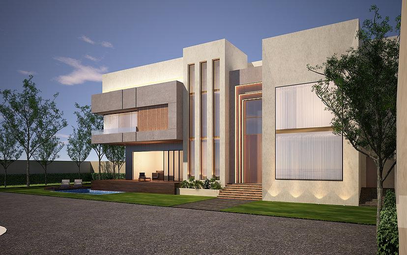 Modern Architectural design for a villa in Saar. g