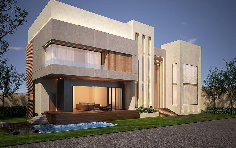 Modern Architectural design for a villa in Saar.