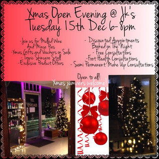 Christmas Open Evening at JK's