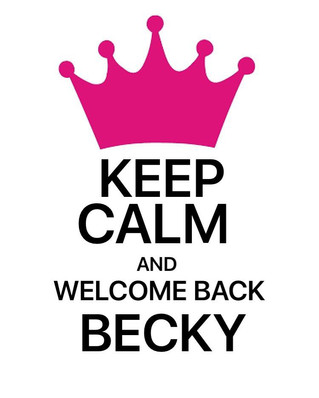Welcoming back becky after her honeymoon! Call now to book your appointment 💖