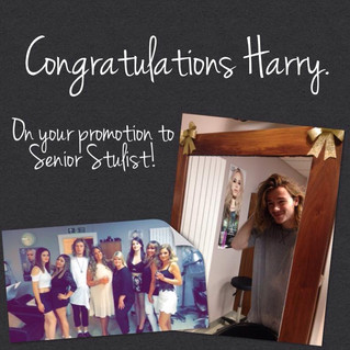 Congratulations to our new Senior Stylist Harry Dietrich