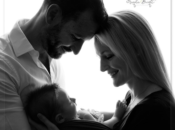 Family image with a new baby