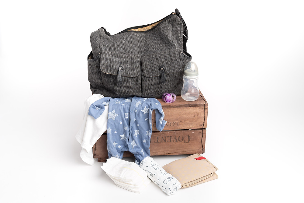 Packed changing bag