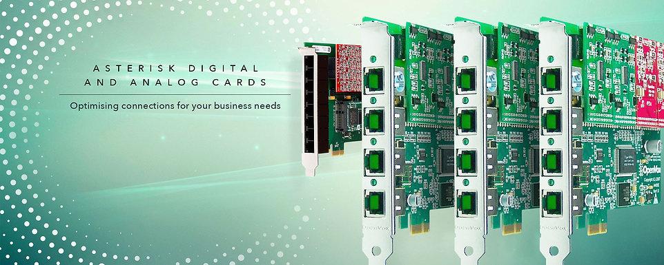 OCO Infocom asterisk digtal and analog cards