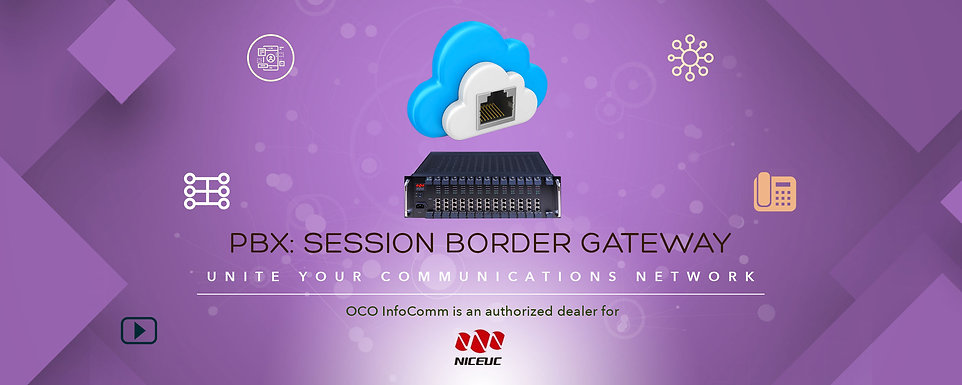 OCO Infocomm PBX session border gateway