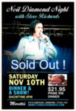 Neil Diamond Night with Steve Richards !