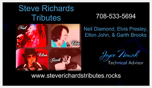 Steve Richards Neil Diamond Elvis Presley Garth Brooks Elton John Tribute Artist