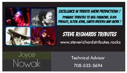 Steve Richards Tributes Business Card